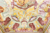 Ceiling fresco, hall of myths, Martina Franca
