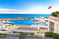 Monte Carlo yachting harbor and waterfront view