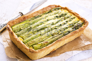 pastry with asparagus