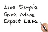 Live simple concept