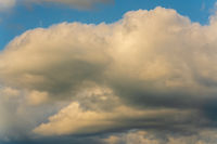 Clouds floating across sky, natural meteorology abstract background