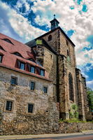 Halle Saale, Germany - June 21, 2019 - Medieval Moritz Church