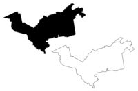 Garkalne Municipality (Republic of Latvia, Administrative divisions of Latvia, Municipalities and their territorial units) map vector illustration, scribble sketch Garkalne map