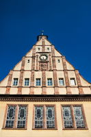 Schkeuditz, Germany - June 19, 2019 - Facade of the old town hall