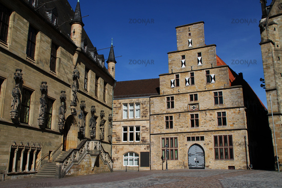 The town hall place in Osnabrück