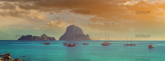 Cala d'Hort beach. Ibiza Island