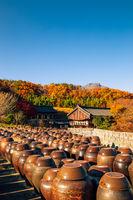 Tongdosa temple Seowoonam at autumn in Yangsan, Korea