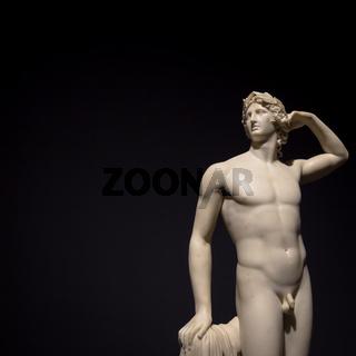 Apollo Crowing Himself - Antonio Canova's ancient sculpture in Italian Museum