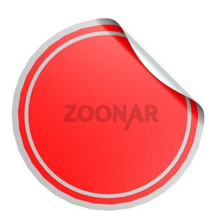 Red circle label