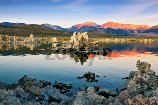 Outliers - limestone formation on  the lake