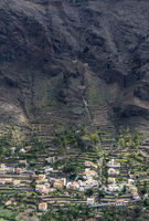 Village in Valle Gran Rey on La Gomera