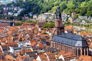 Heidelberg mit der Heiliggeistkirche