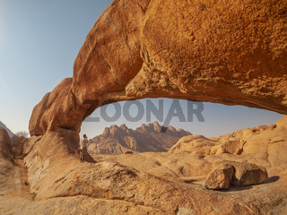 Rock arch in the Spitzkoppe National Park, Namibia.