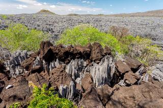 Ankarana Tsingy stones, northern Madagascar landmark