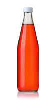 Bottle of carbonated strawberry soft drink