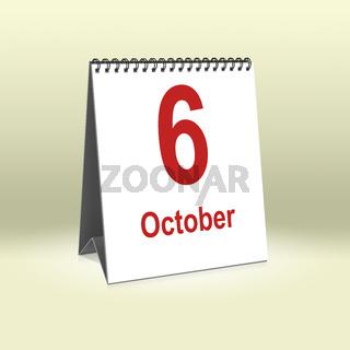 October 6th   6.Oktober
