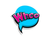 Comic text whoo, who logo sound effects