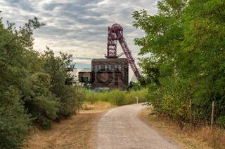 Mining tower in Oberhausen, North Rhine-Westfalia, Germany