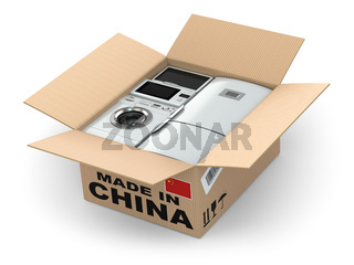 Home appliance in box. Made in China.