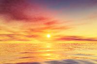 beautiful ocean water sunset background