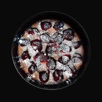 Whole plum pie