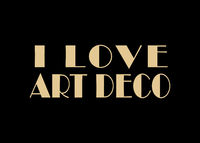 I Love Art Deco Text Over Black Background