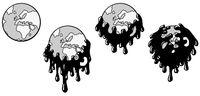 Pollution World Swallow Cartoon