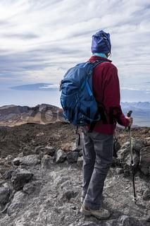 Senior Hiker on Mountain