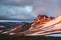 Sunset near Kerlingarfjoll geothermal area, Iceland