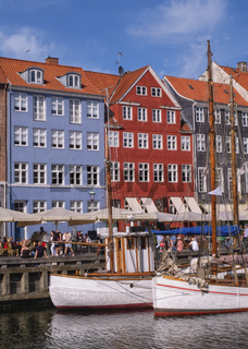 Colorful buildings of Nyhavn in Copenhagen, Denmark