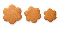 Gingerbread Cookies In Shape Of Flowers