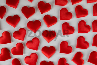 Valentines day hearts on white