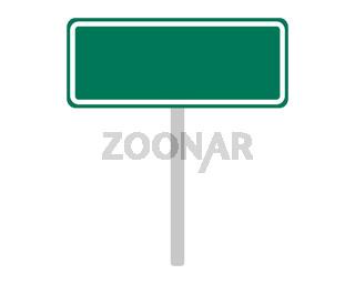 Ortsschild aus Australien auf weiss - Road sign of Australia on white