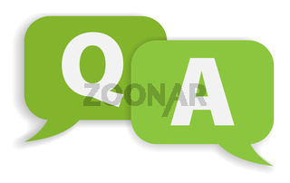 speech bubbles with Q and A isolated on white background vector illustration