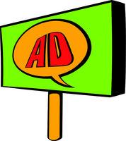 Billboard for advertising icon, icon cartoon