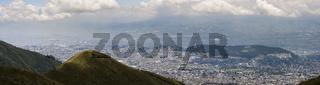 Stadtansicht von Quito