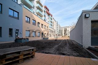 Baustelle des neuen Domviertels in Magdeburg