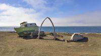 The Barrow Whale Bone Arch Utqiagvik Alaska Artic Ocean North America