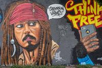 Pirates of the Caribbean, Graffiti in Berlin