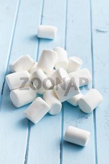 white marshmallows on kitchen table