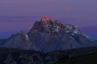 Dolmites with alpenglow