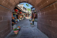 Arched passage street in Fenghuang Ancient Town