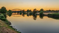 The River Ruhr in Duisburg, North Rhine-Westfalia, Germany
