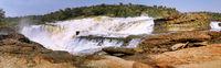 The Nile before going down Murchison Falls at Murchison Falls National Park Uganda