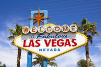 the view of Welcome to Fabulous Las Vegas sign