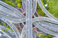 city road interchange closeup