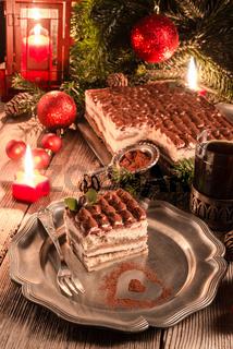 Christmas tiramisu