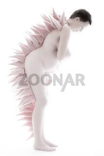 Pregnant woman in artistical cloth