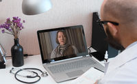 Telemedicine. Video call with doctor
