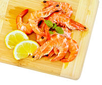 Shrimp with lemon and basil